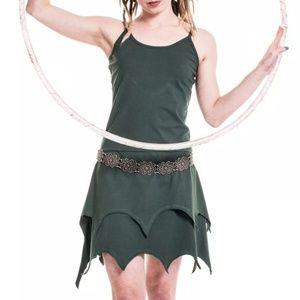 Green organic cotton pixie dress